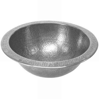 Hammerwerks Classic Round Undermount Copper Lavatory Sink In Pewter