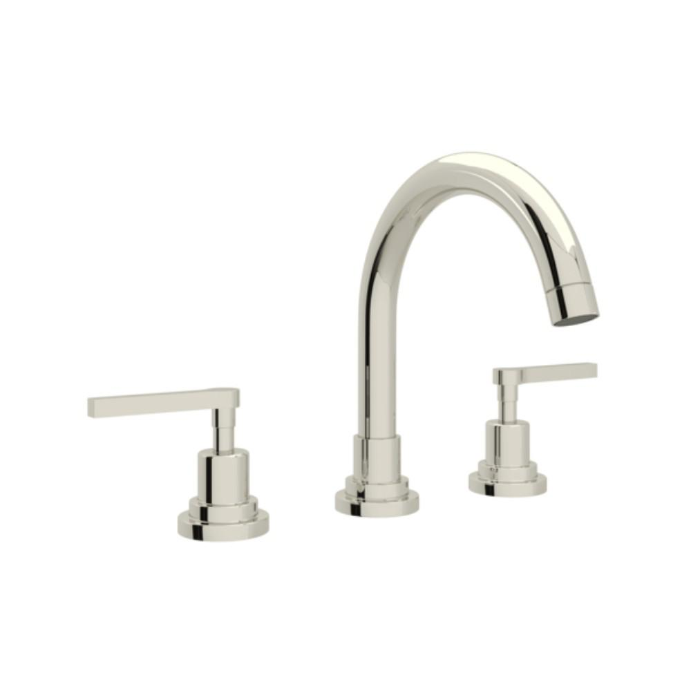 Superbe ROHL Lombardia 8 In. Widespread 2 Handle Bathroom Faucet In Polished Nickel