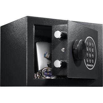 0.14 cu. ft. Digital Lock Steel Security Safe Black
