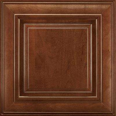 14-9/16x14-1/2 in. Savannah Cherry Cabinet Door Sample in Spice
