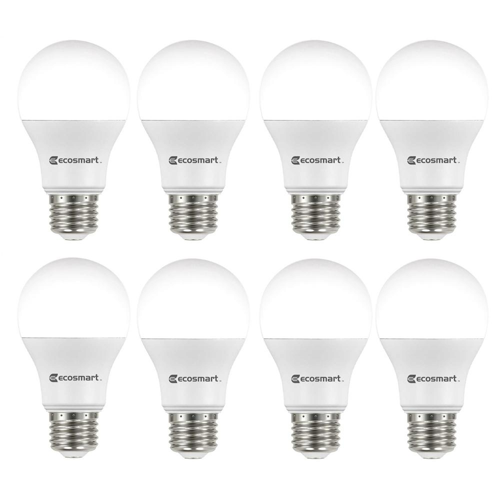 Ecosmart 60 Watt Equivalent A19 Non Dimmable Led Light Bulb Soft White 8