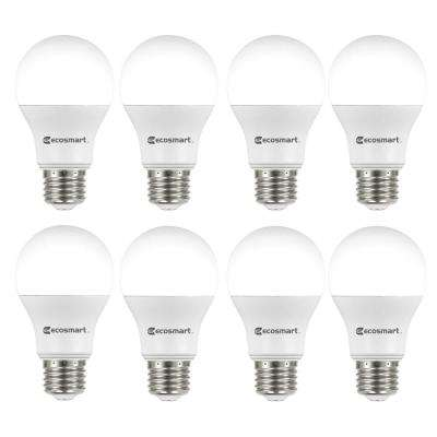 60-Watt Equivalent A19 Non-Dimmable LED Light Bulb Soft White (8-Pack)