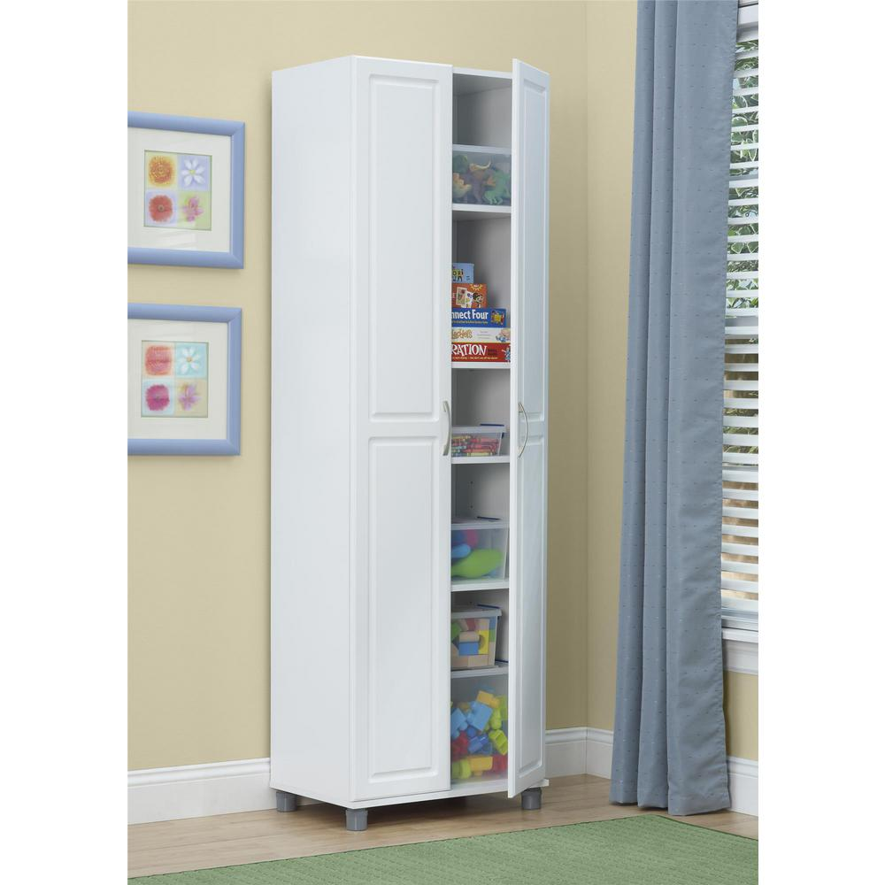 Systembuild Kendall White Storage Cabinet 7362401pcom The Home Depot