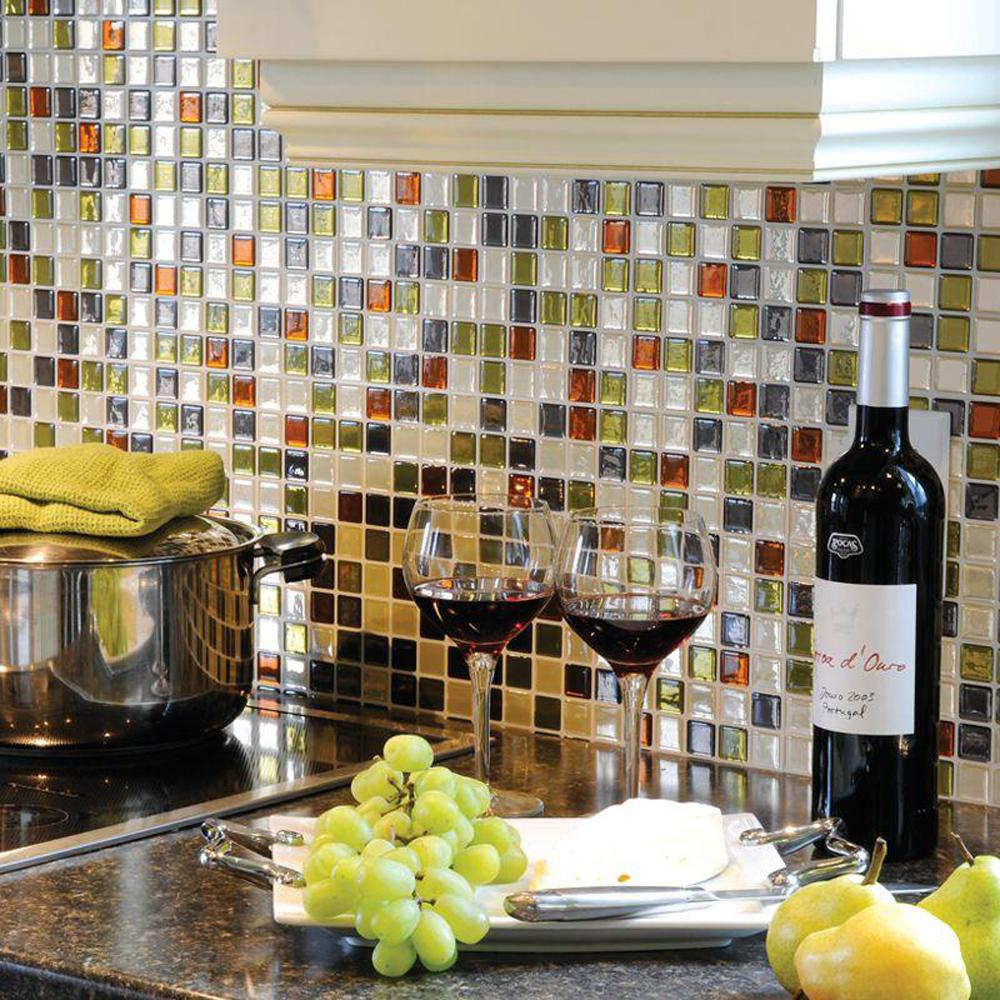 Self Adhesive Backsplashes Pictures Ideas From Hgtv: Smart Tiles Idaho 9.85 In. W X 9.85 In. H Peel And Stick