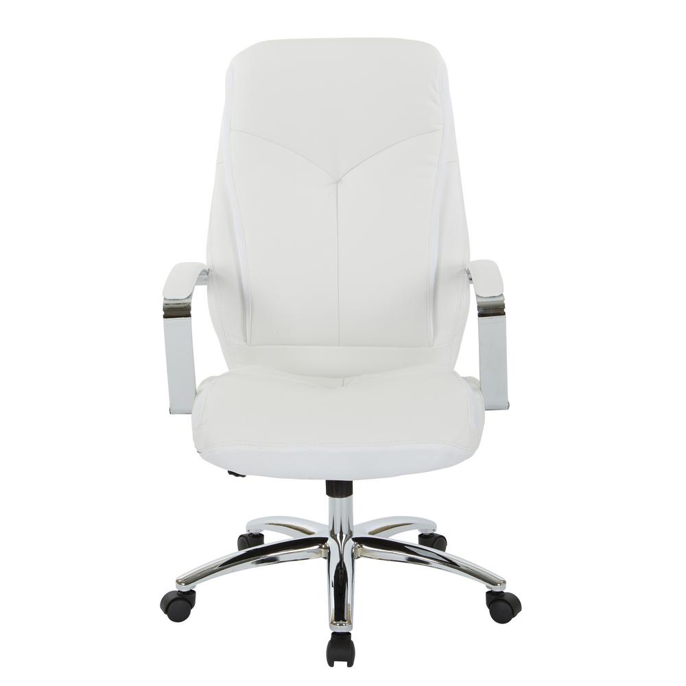 Inspired By Bett Clifton Office Chair With White Mesh And Faux Leather