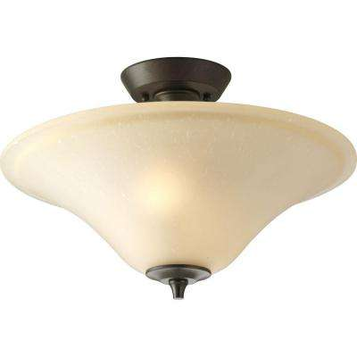 Cantata Collection 2-Light Forged Bronze Semi-Flush Mount Light