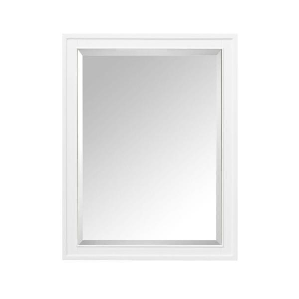 Madison 24 in. W x 32 in. H x 5-1/10 in. D Framed Surface-Mount Bathroom Medicine Cabinet in White