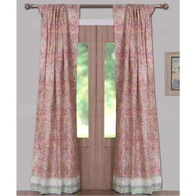Palisades Pastel Sheer Polyester Window Panel Pair - 42 in. W x 84 in. L
