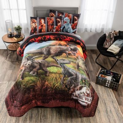 "Jurassic World Fallen Kingdom ""Eruption"" 6-Piece Multicolored Full Bed in a Bag Set"
