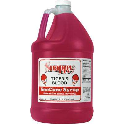 Snow Cone Syrup. 1 Gal. Tiger's Blood