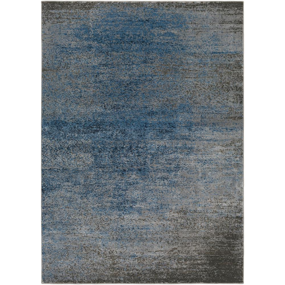World rug gallery contemporary trellis design blue 7 ft for Modern design area rugs