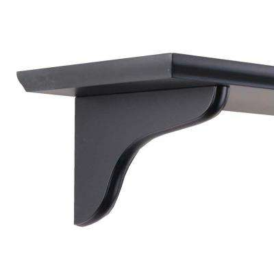 7 in. Wood Decorative Shelf Corbel with Black Finish