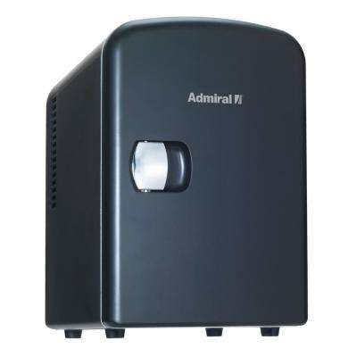 0.14 cu. ft. Handy Personal Mini Fridge and Warmer in Black without Freezer
