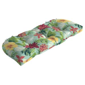 41.5 in. x 18 in. Elea Tropical Countoured Tufted Outdoor Bench Cushion