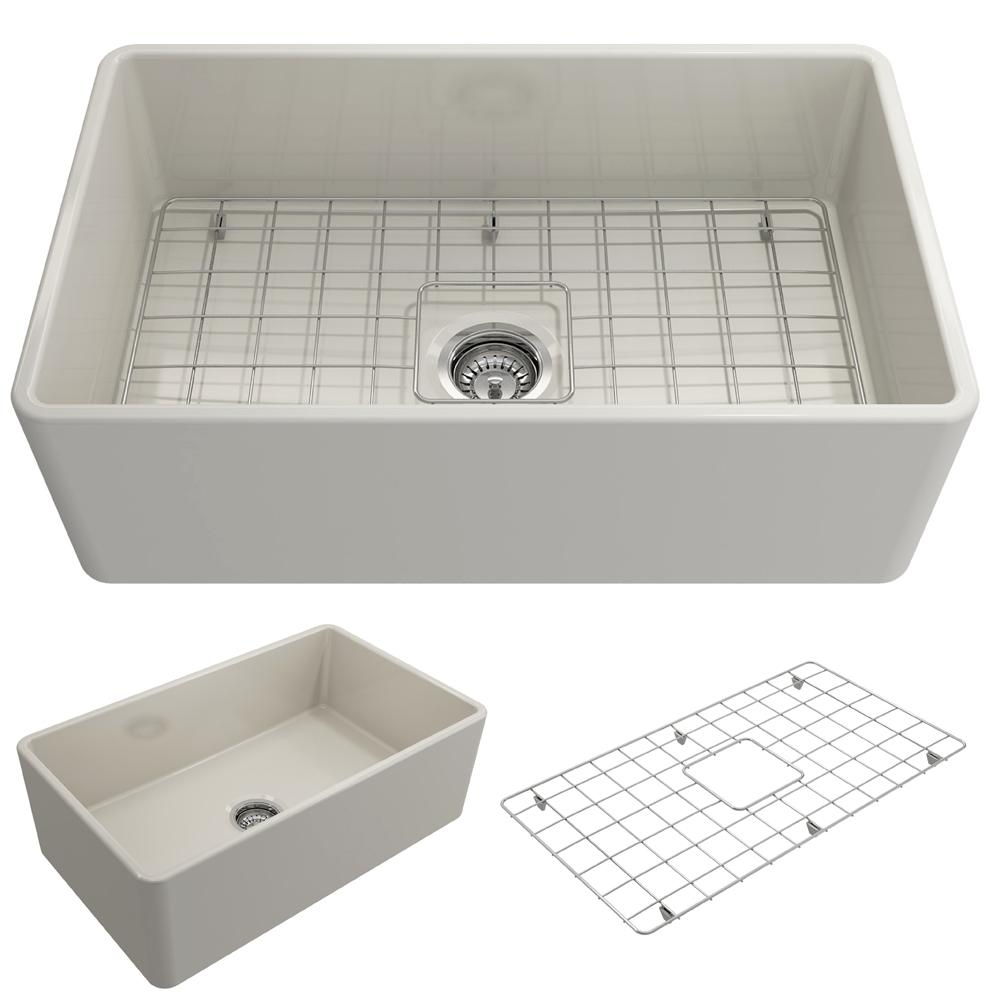 Classico Farmhouse Apron Front Fireclay 30 in. Single Bowl Kitchen Sink