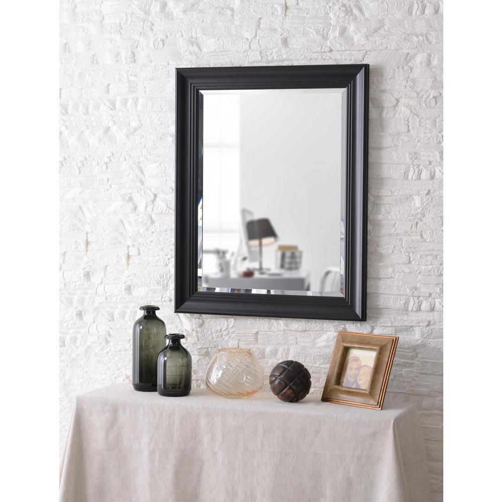 Kenroy Home Eminence square Black Wall Mirror by Kenroy Home