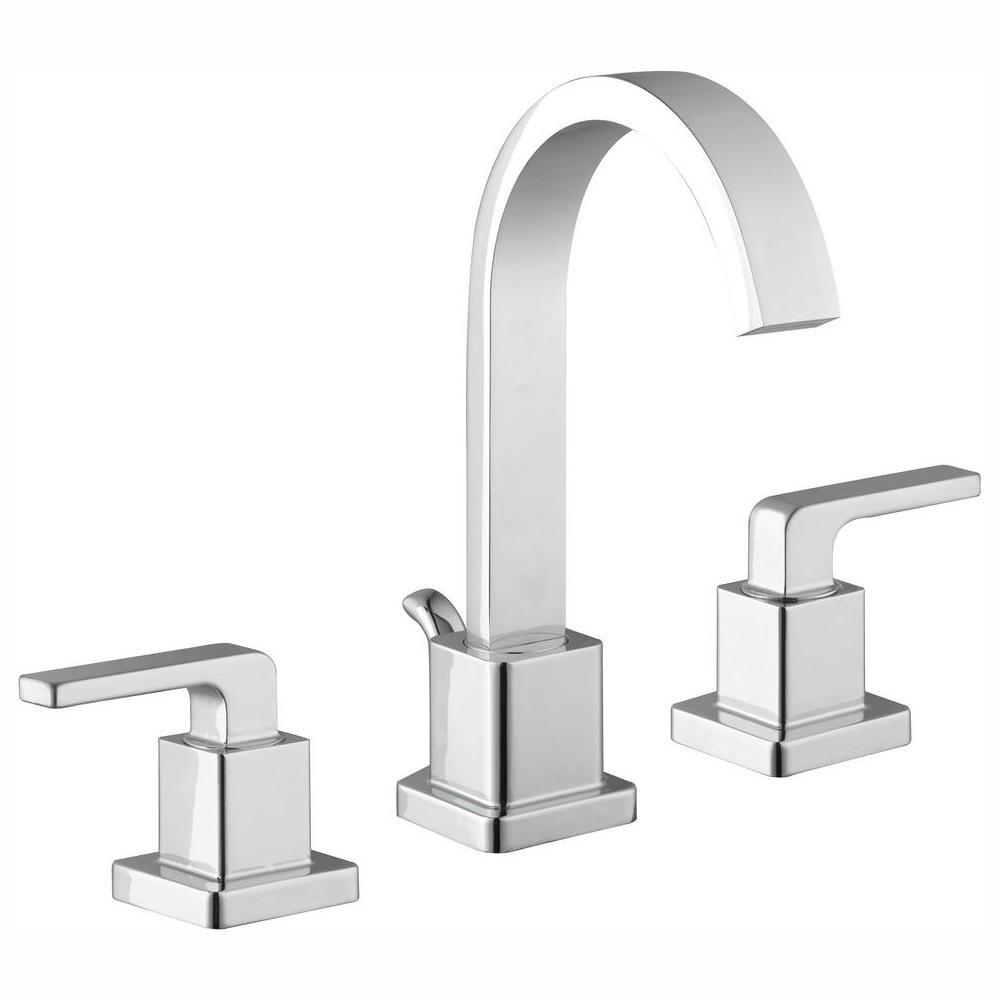Glacier Bay Farrington 8 in. Widespread 2-Handle Hi-Arc Bathroom Faucet in Chrome