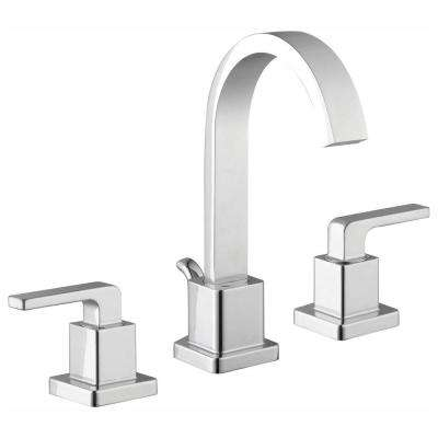 Farrington 8 in. Widespread 2-Handle Hi-Arc Bathroom Faucet in Chrome