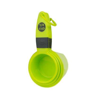 4-Piece Green and Black Measuring Cup Set