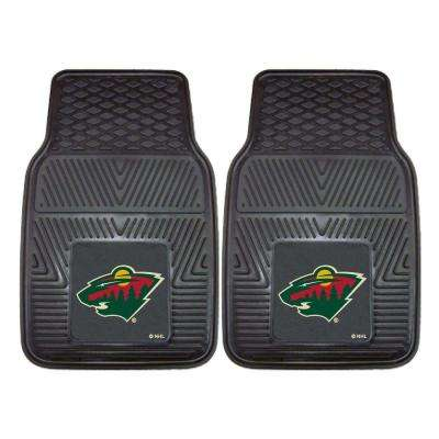 NHL Minnesota Wild Heavy Duty 2-Piece 18 in. x 27 in. Vinyl Car Mat
