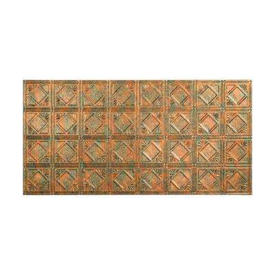 Traditional 4 - 2 ft. x 4 ft. Glue-up Ceiling Tile in Copper Fantasy