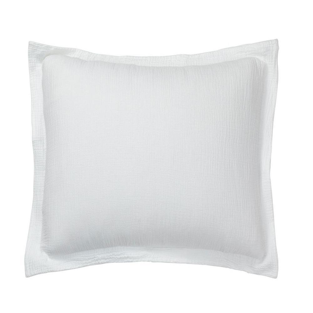 Pryor White Solid Organic Cotton Euro Sham