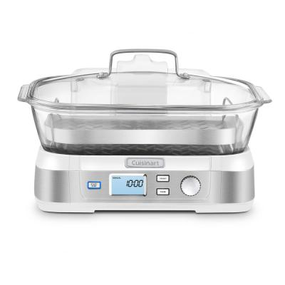 CookFresh 5.3 Qt. White Food Steamer and Rice Cooker
