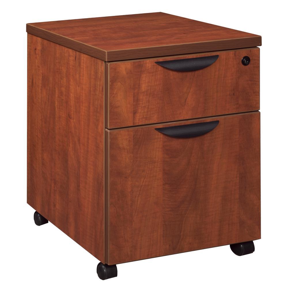 Legacy Cherry Box File Mobile Pedestal