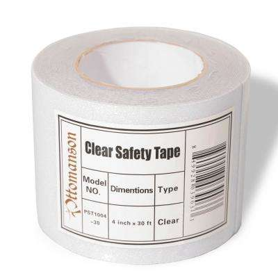 Safety Treads 4 in. x 30 ft. Clear Adhesive Backing Carpet Tape