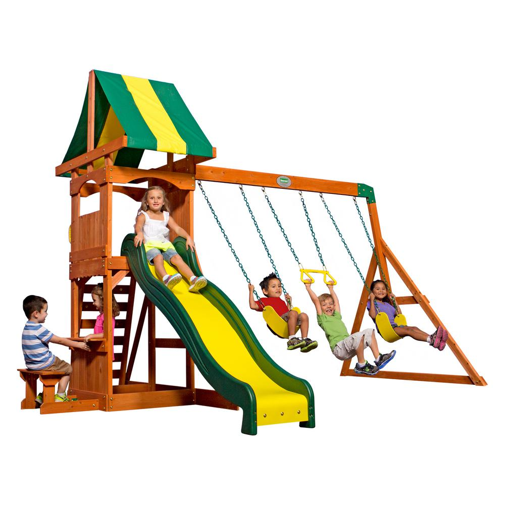 Backyard Discovery Weston All Cedar Swing Set