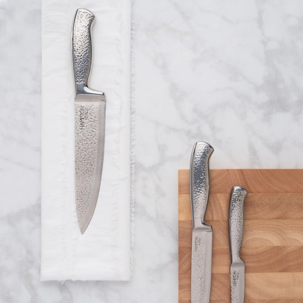 Hampton Forge Argentum Hammered 14-Piece Cutlery Block Set
