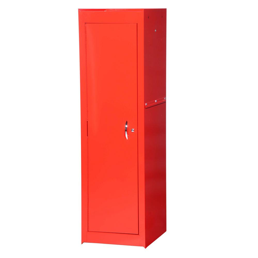 International Tech Series 15-3/8 in. 1-Shelf Full Side Locker, Red