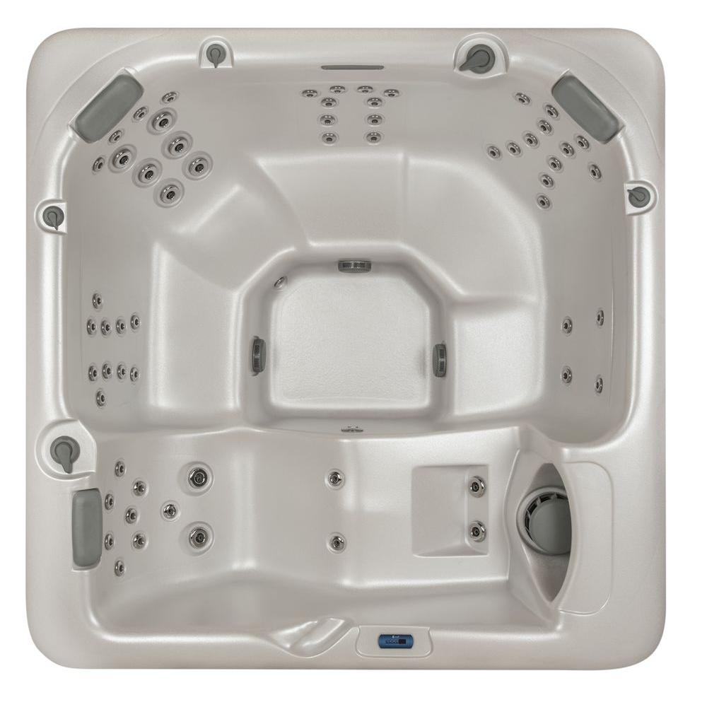 Summit Hot Tubs Aspen 6-Person 60-SS Hydrotherapy Jet Spa with Lounger and Waterfall