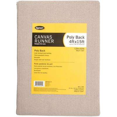 3 ft. 9 in. x 14 ft. 9 in. Poly Back Canvas Drop Cloth Runner