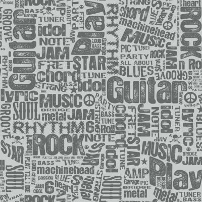 Growing Up Kids Rocker Text Sidewall Removable Wallpaper