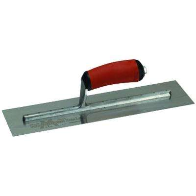 12 in. x 4 in. Finishing Trowel - Curved Durasoft Handle