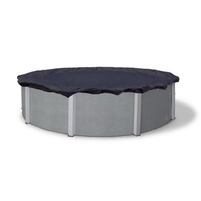 8-Year 24 ft. Round Navy Blue Above Ground Winter Pool Cover