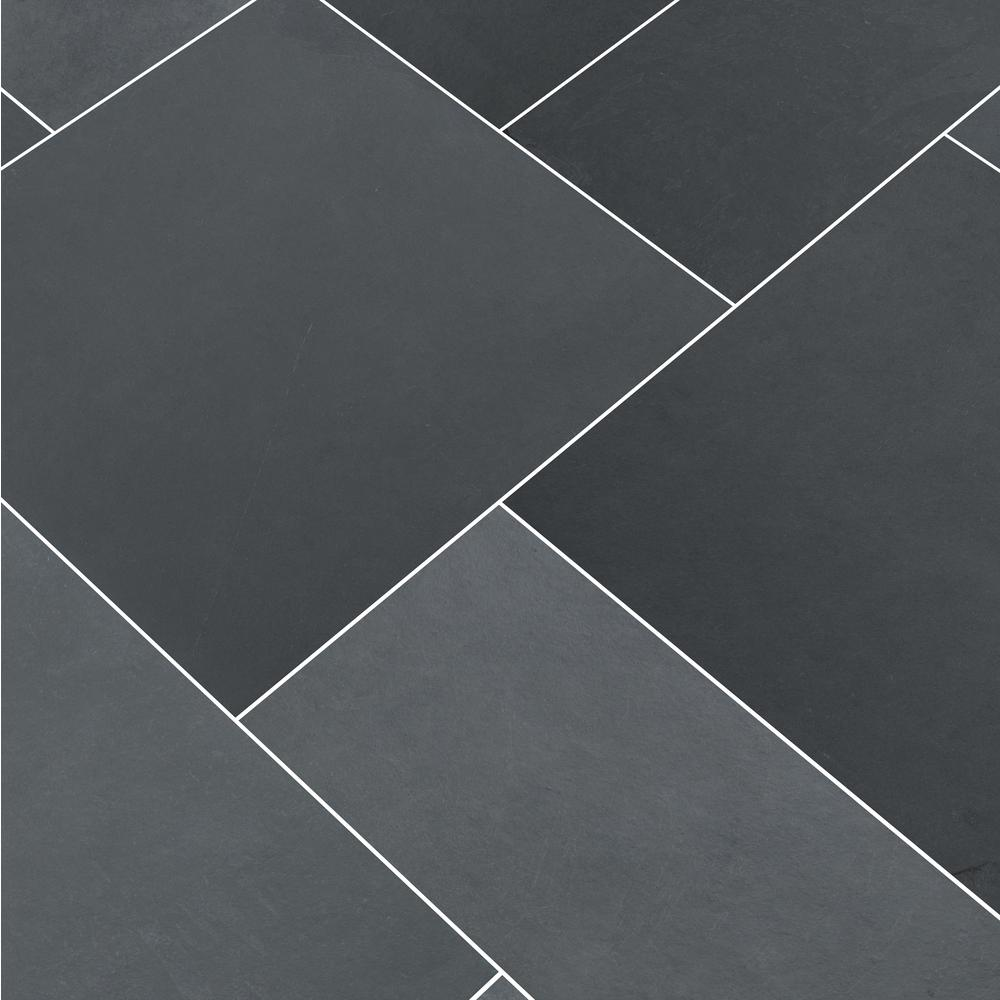 Msi Montauk Blue Ashlar Pattern Gauged Slate Floor And Wall Tile 5 Kits 80