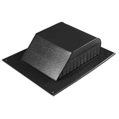 60 sq. in. NFA Aluminum Slant Back Roof Louver Static Vent in Black