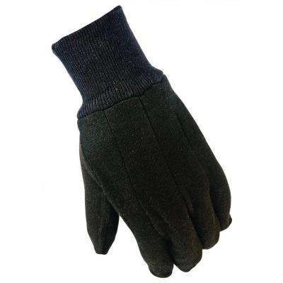 General Purpose Large Brown Cotton Jersey Gloves