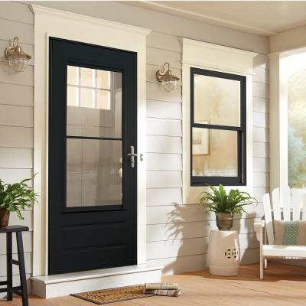 400 Series 3/4 View Self-Storing Aluminum Storm Door