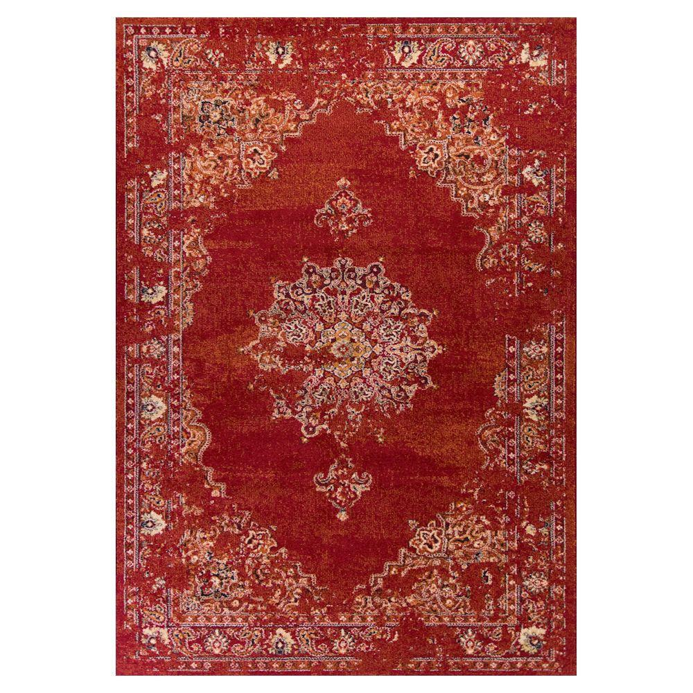 Kas Rugs Bob Mackie Vintage Burnt Red Medallia 5 Ft 3 In X 7