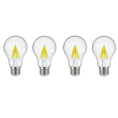 60-Watt Equivalent A19 Dimmable Energy Star Clear Filament Vintage Style LED Light Bulb Soft White (4-Pack)