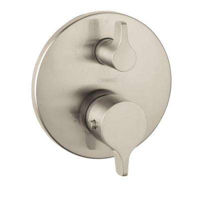 Metris S/E 2-Handle Thermostatic Valve Trim Kit with Volume Control in Brushed Nickel (Valve Not Included)