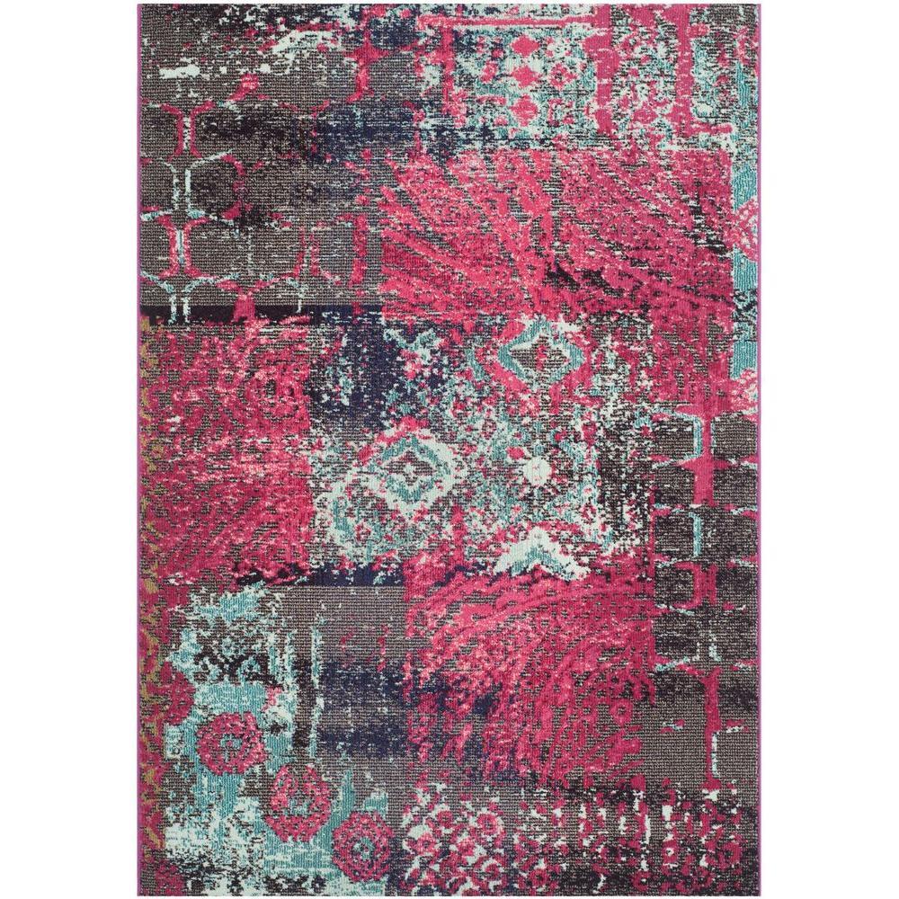 Safavieh Monaco Pink/Multi 5 Ft. 1 In. X 7 Ft. 7 In. Area
