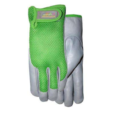 Ladies leather palm gloves