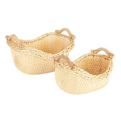 Cobblestone Basket, Set of 2