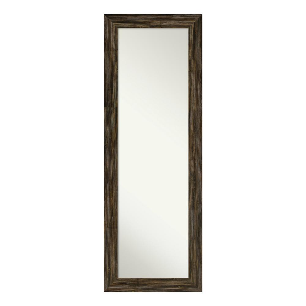 Amanti Art Fencepost Narrow Brown on the Door Mirror was $272.0 now $159.93 (41.0% off)