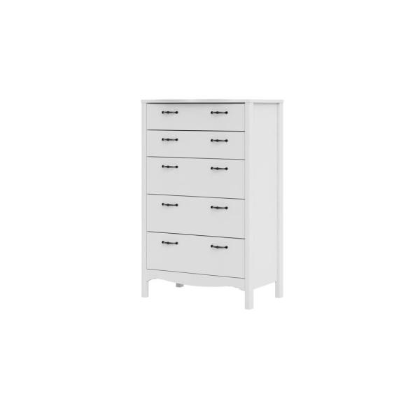 Biscayne 5-Drawer White Chest of Drawers