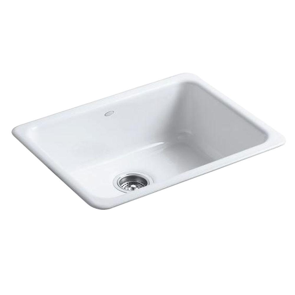 Kohler Iron Tones Drop In Undermount Cast 24 Single